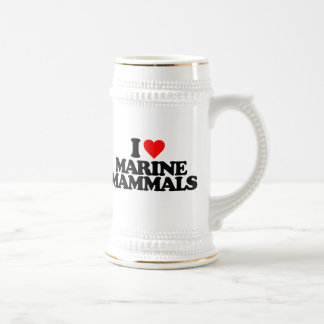 I LOVE MARINE MAMMALS COFFEE MUG