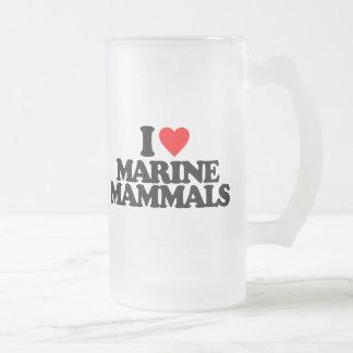 I LOVE MARINE MAMMALS BEER MUG