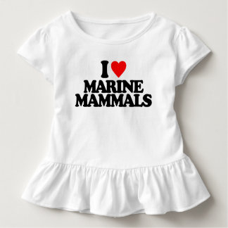 I LOVE MARINE MAMMALS TODDLER T-SHIRT
