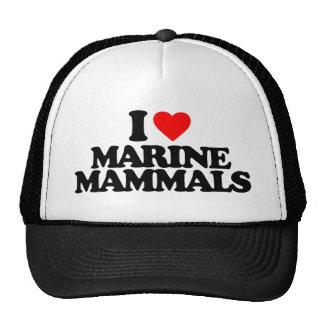 I LOVE MARINE MAMMALS TRUCKER HAT
