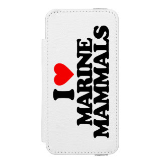 I LOVE MARINE MAMMALS WALLET CASE FOR iPhone SE/5/5s