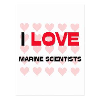 I LOVE MARINE SCIENTISTS POSTCARDS