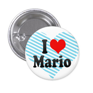 I love Mario Pinback Buttons