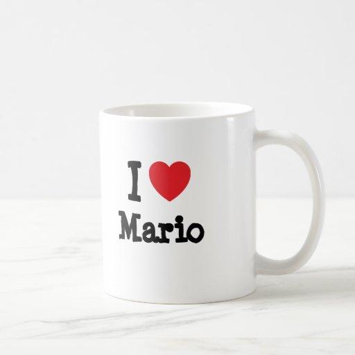 I love Mario heart T-Shirt Classic White Coffee Mug