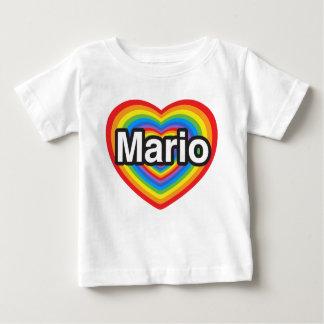 I love Mario. I love you Mario. Heart Baby T-Shirt