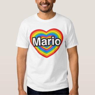 I love Mario. I love you Mario. Heart Shirt