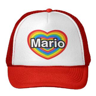 I love Mario. I love you Mario. Heart Trucker Hat
