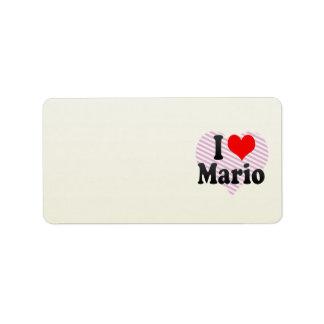 I love Mario Label