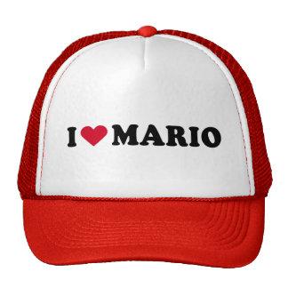 I LOVE MARIO TRUCKER HAT