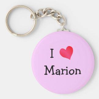 I Love Marion Basic Round Button Keychain