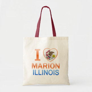 I Love Marion, IL Canvas Bags