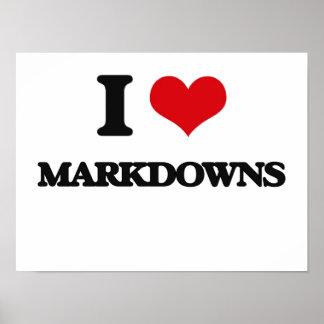 I Love Markdowns Print