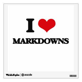 I Love Markdowns Wall Skin