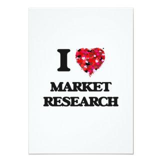 I Love Market Research 5x7 Paper Invitation Card