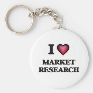 I Love Market Research Keychain