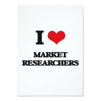 I love Market Researchers 5x7 Paper Invitation Card