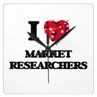 I love Market Researchers Square Wallclocks