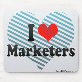 I Love Marketers Mouse Pad