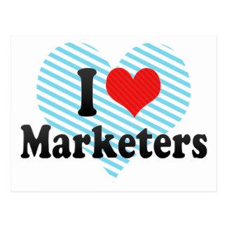 I Love Marketers Postcard