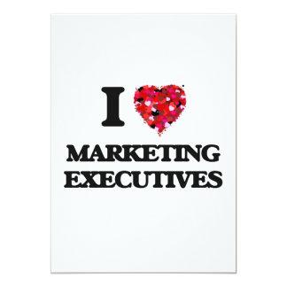 I love Marketing Executives 5x7 Paper Invitation Card