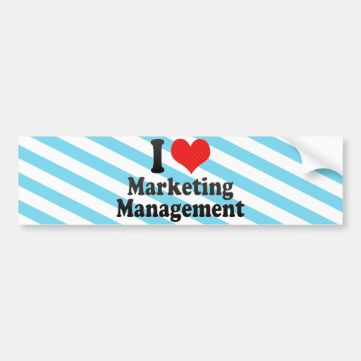 I Love Marketing Management Bumper Stickers