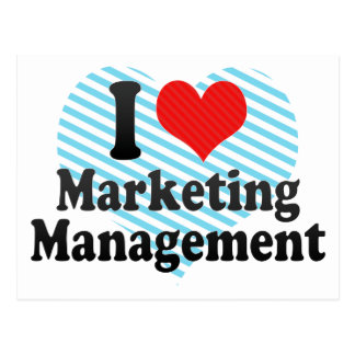 I Love Marketing Management Postcard