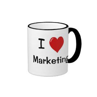 I Love Marketing Marketing Loves Me - Double Sided Ringer Mug