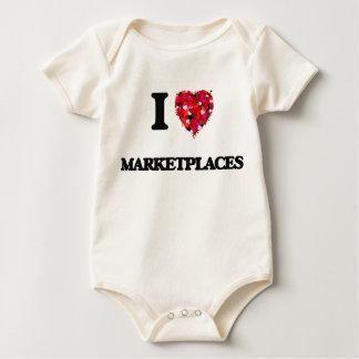 I Love Marketplaces Baby Bodysuit