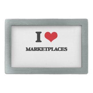 I Love Marketplaces Belt Buckle