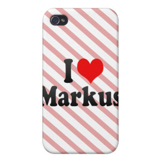 I love Markus iPhone 4 Covers