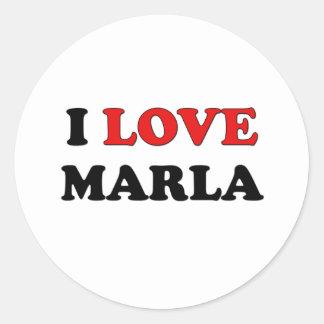 I Love Marla Classic Round Sticker