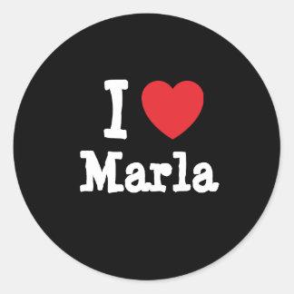 I love Marla heart T-Shirt Classic Round Sticker