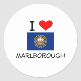 I Love Marlborough New Hampshire Stickers