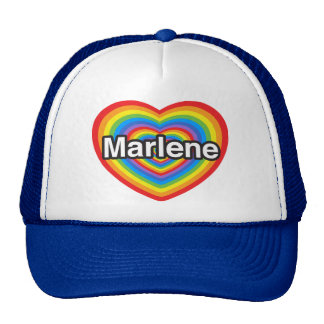 I love Marlene. I love you Marlene. Heart Mesh Hats