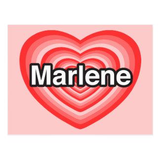 I love Marlene. I love you Marlene. Heart Postcard