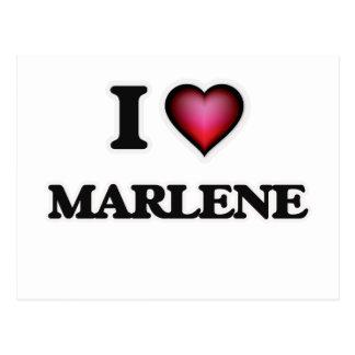 I Love Marlene Postcard