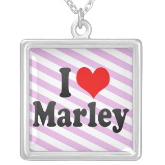 I love Marley Square Pendant Necklace