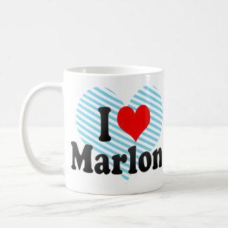 I love Marlon Classic White Coffee Mug