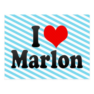 I love Marlon Postcard