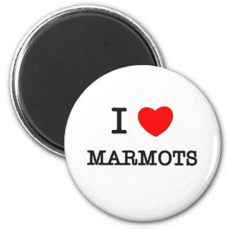 I Love MARMOTS Magnet