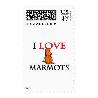 I Love Marmots Postage