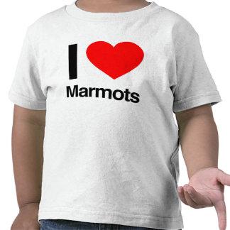 i love marmots tees