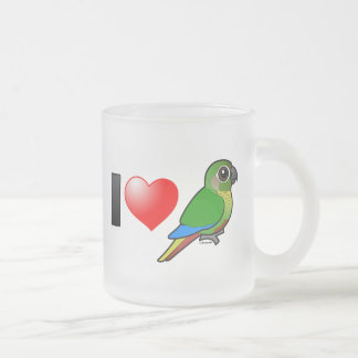 I Love Maroon-bellied Conures Frosted Glass Coffee Mug