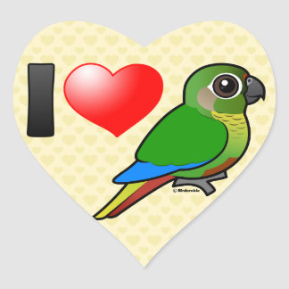I Love Maroon-bellied Conures Heart Sticker