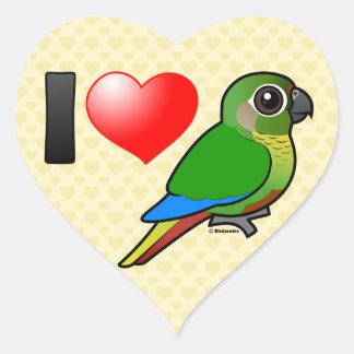 I Love Maroon-bellied Conures Heart Sticker
