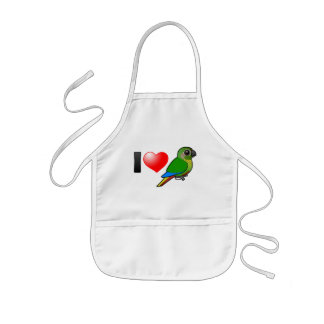 I Love Maroon-bellied Conures Kids' Apron