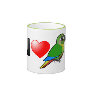 I Love Maroon-bellied Conures Ringer Mug