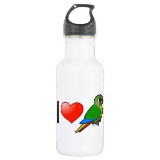 I Love Maroon-bellied Conures Stainless Steel Water Bottle