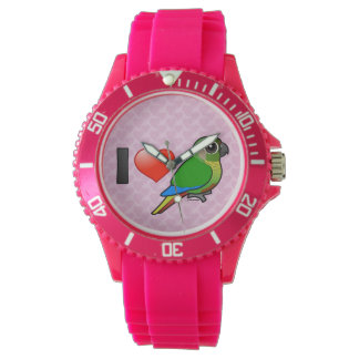 I Love Maroon-bellied Conures Wristwatches