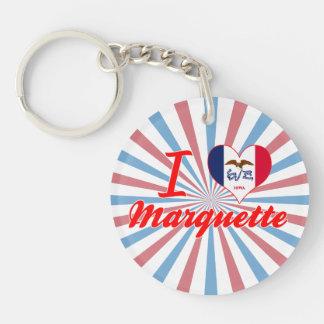 I Love Marquette, Iowa Acrylic Keychain